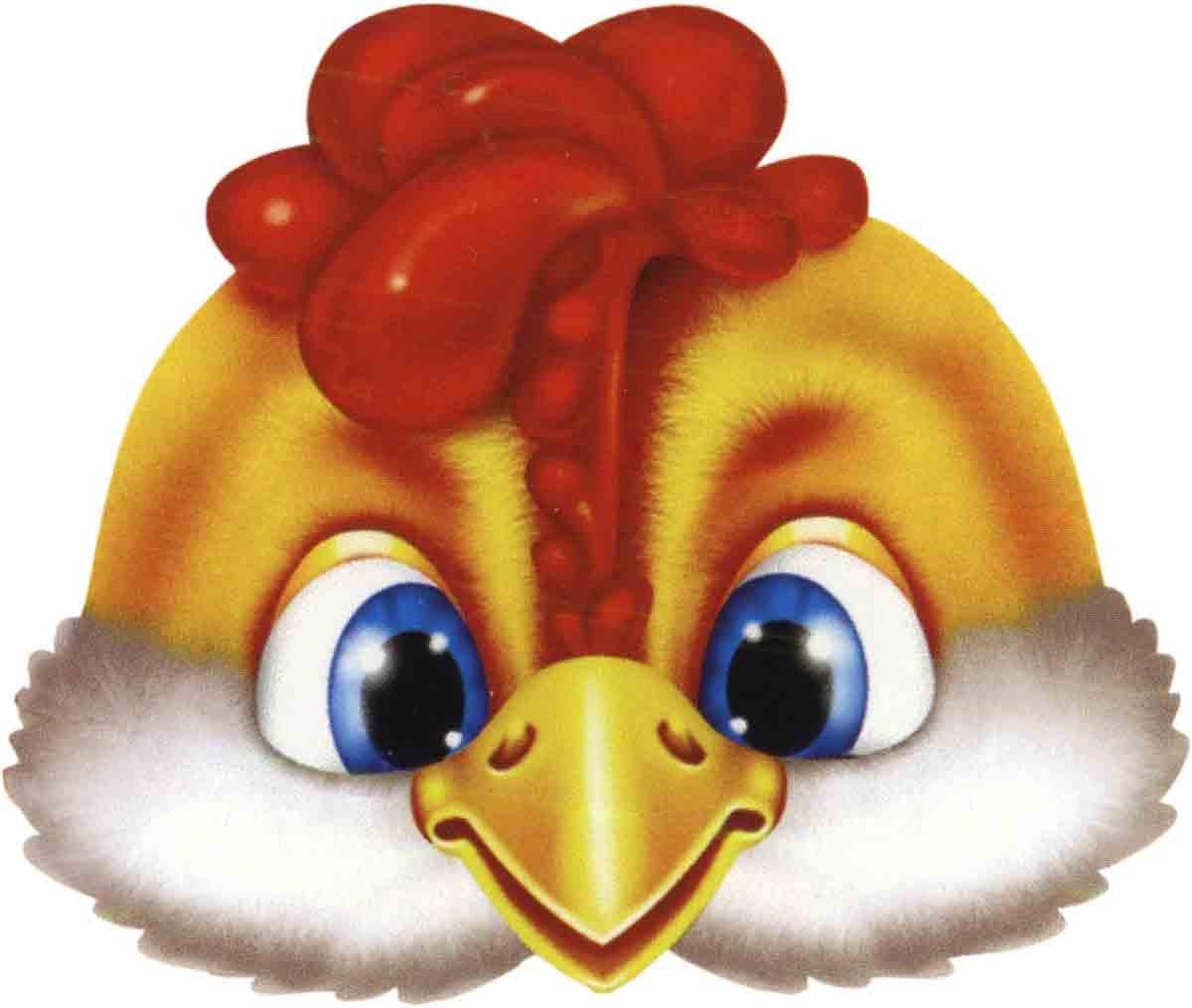Маска цыпленок своими руками
