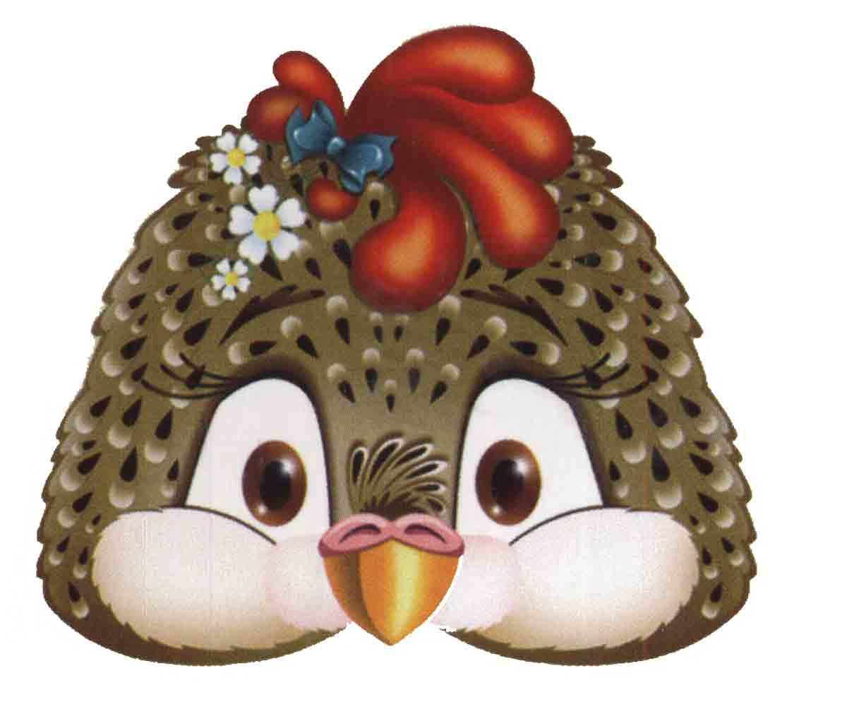 Маска цыпленок на голову своими руками