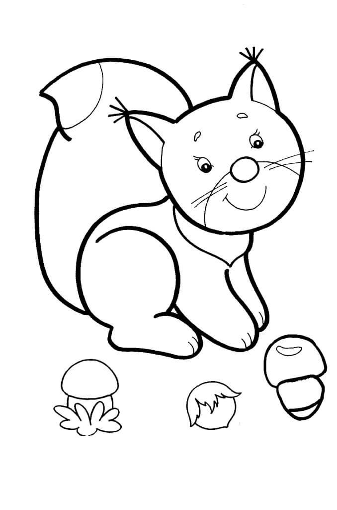 Раскраски животных, для детей 2, 3 лет. - Детский сайт зайка