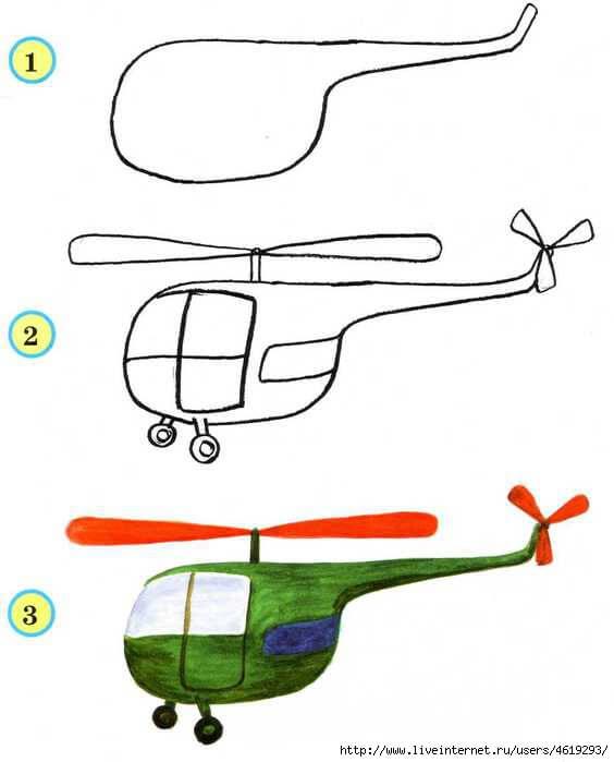 Машина схема для детей